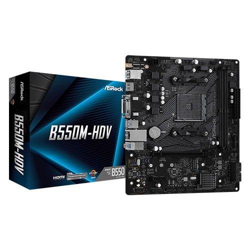 asrock b550m hdv amd motherboard 1