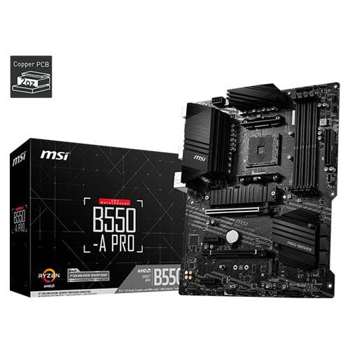 msi b550 pro amd am4 motherboard 1