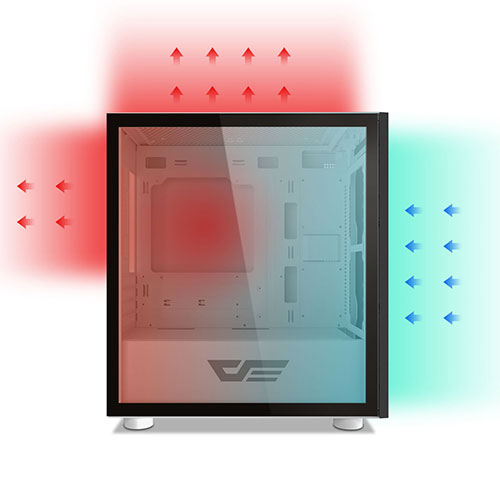 darkflash dlm21 mesh white casing airflow 3